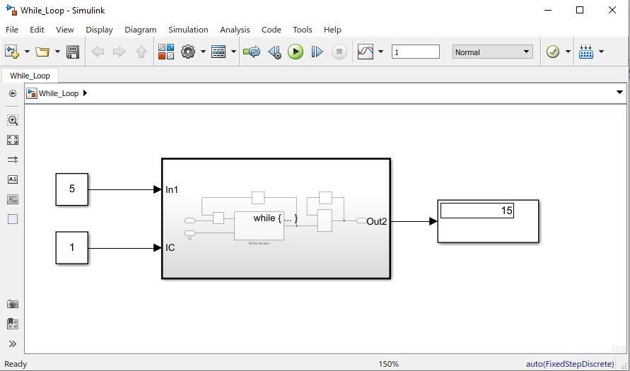 while loop simulink model