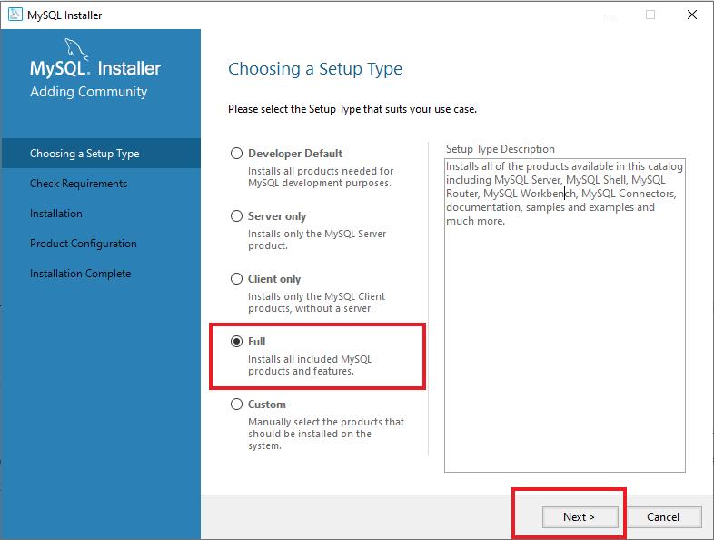 How to install MySQL on Windows 10; step-6
