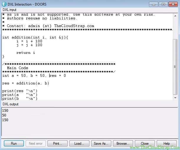 DOORS DXL Function 6.2
