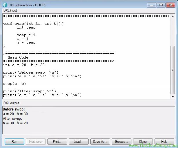 DOORS DXL Function 6.3