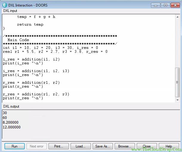 DOORS DXL Function 6.4