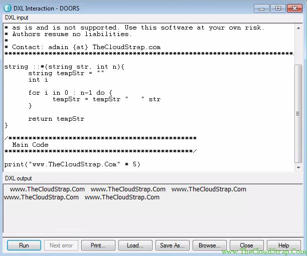 DOORS DXL Function 6.5
